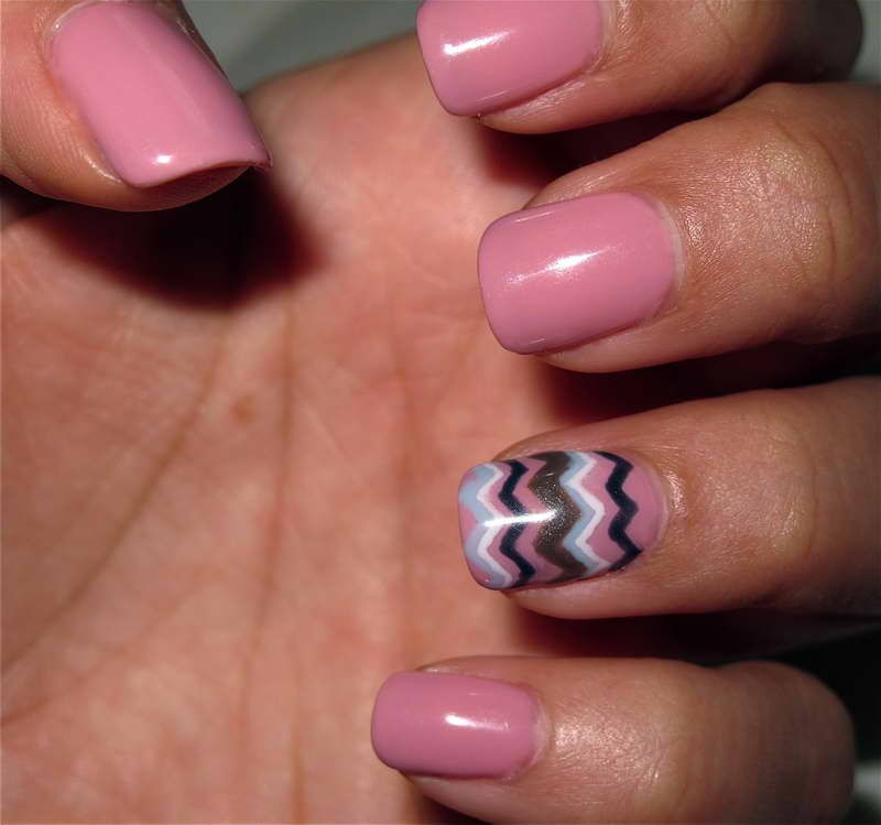 Cute Nail Designs For Short Nails With Basic Color Pink Nails