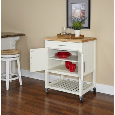 Conrad White Kitchen Cart In 2018 Carts Pinterest Kitchen Cart