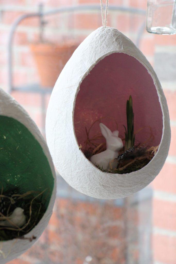 Osterbasteln mit Kindern: Osterei aus Klopapier - Lavendelblog