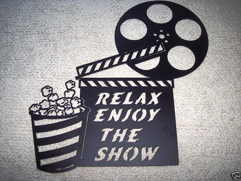 Relax And Enjoy The Show Movie Theater Decor Home Theater Decor At Home Movie Theater