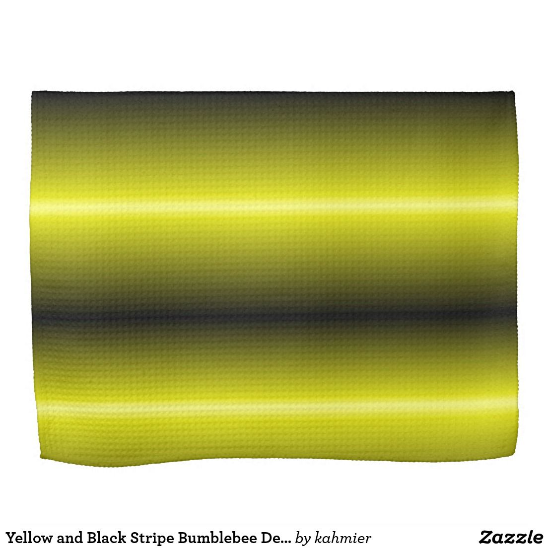 Yellow and Black Stripe Bumblebee Design Towel
