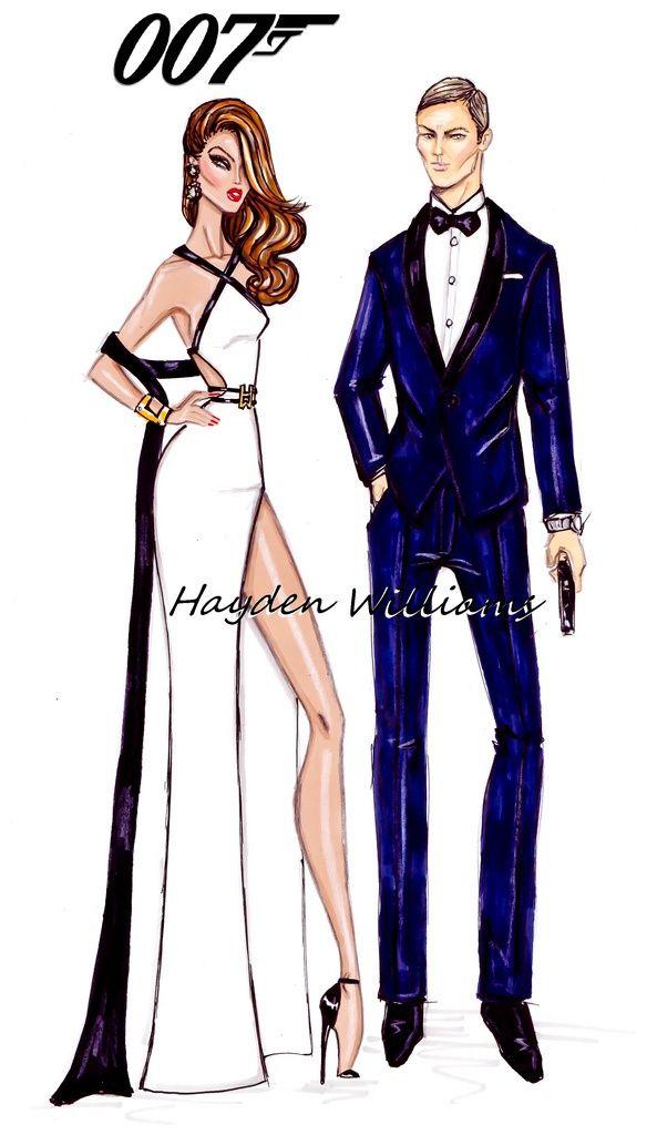 James Bond Cartoon Fashion Sketches Fashion Design