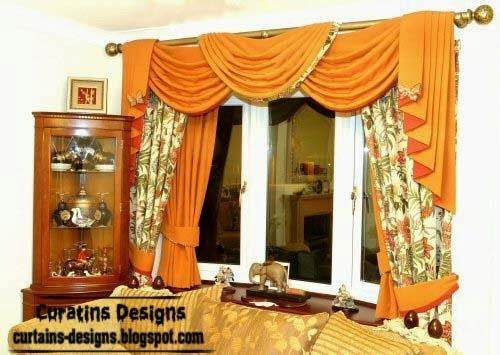 Topluxurydrapescurtaindesignsorangecurtainlivingroom Enchanting Orange Curtains For Living Room Review