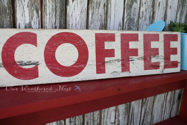 Coffee Reclaimed Wood Sign