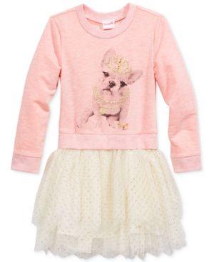 Nannette Girls Pullover Knit & Mesh Dress, Toddler Girls (2T-5T) & Little Girls (2-6X) - Pink 2T