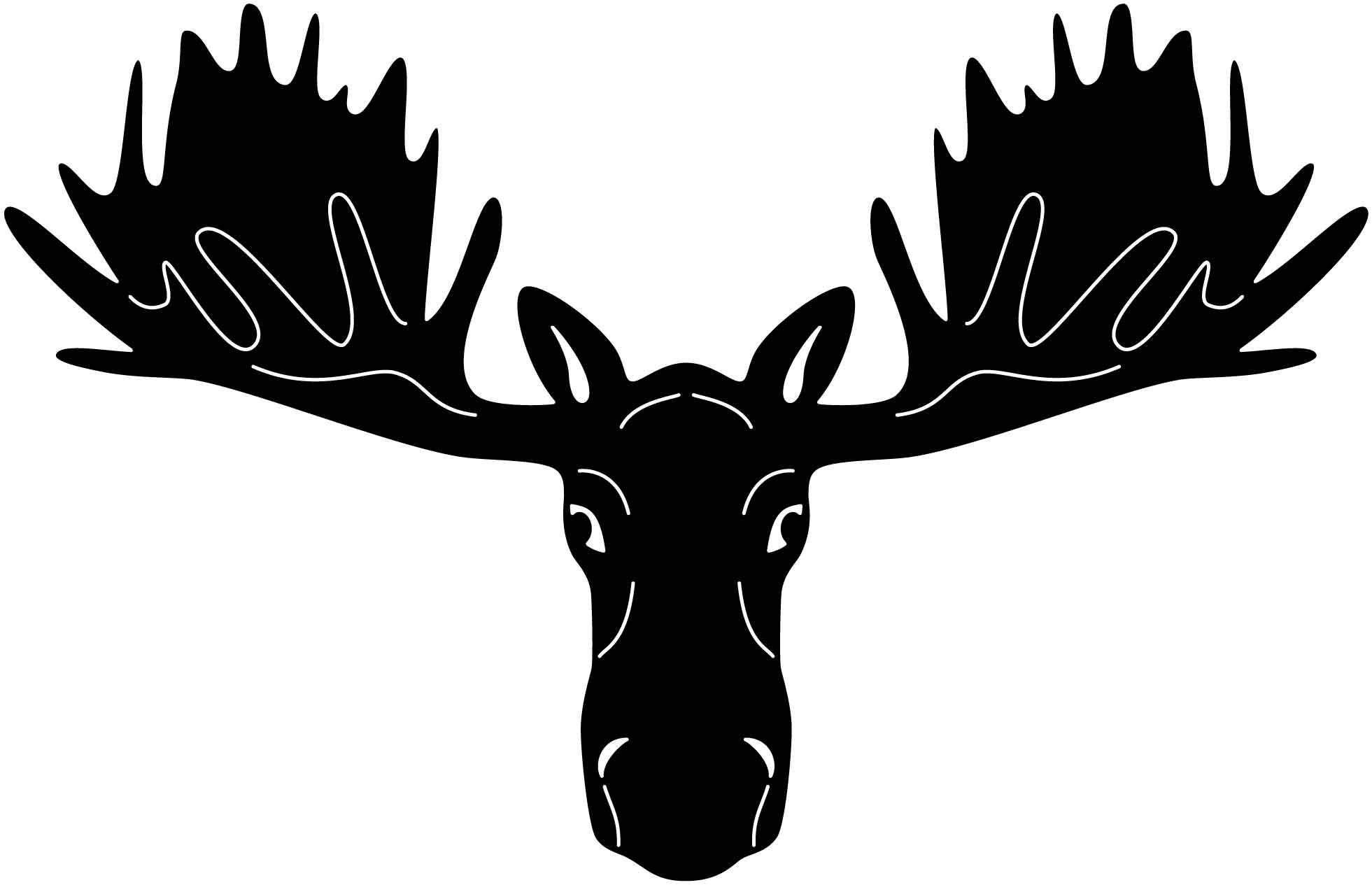 Moose Head Free DXF file Moose head, Moose, Moose silhouette