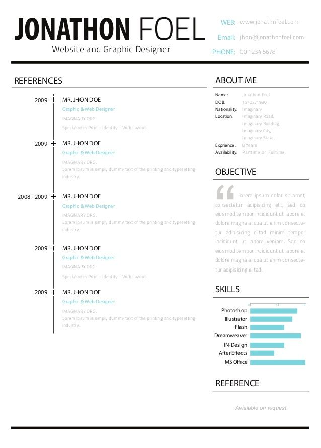 Resume Headers Unique Cv En Formato #infograría  Currículum & Carta De Presentación .