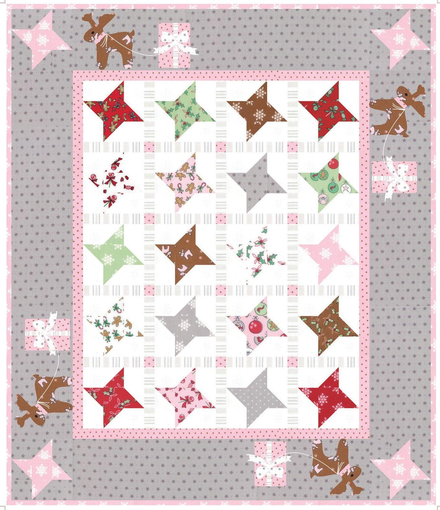Sugar Stars Mini Quilt