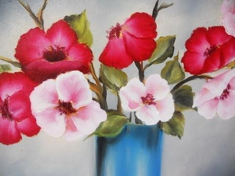 Como Pintar Flores Tecnica Americana Youtube Flower Painting Rose Painting Painting Tutorial