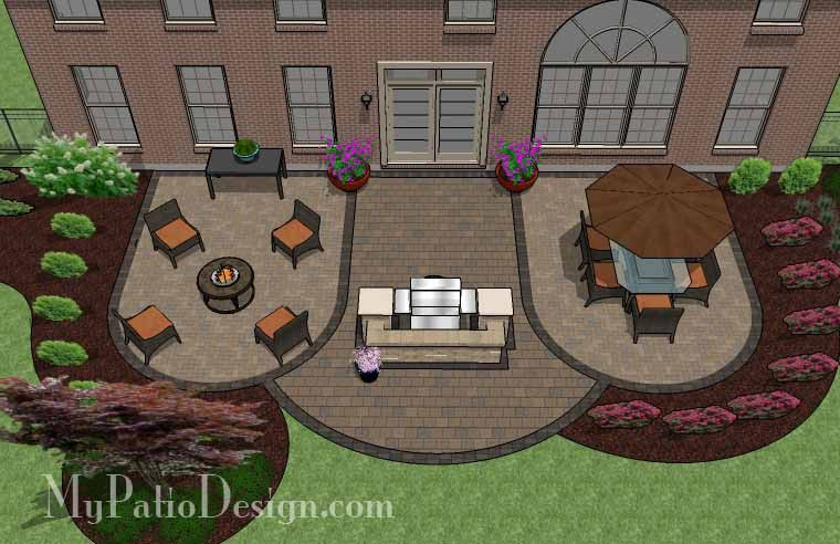 Create a backyard paradise with our Arcs Patio Design with ... on outdoor living space ideas, bedroom paradise ideas, koi pond ideas, vaulted ceilings ideas, swimming pool paradise ideas, backyard landscaping, outdoor tiki bar ideas, landscaping ideas, tiered deck ideas, fireplace ideas,