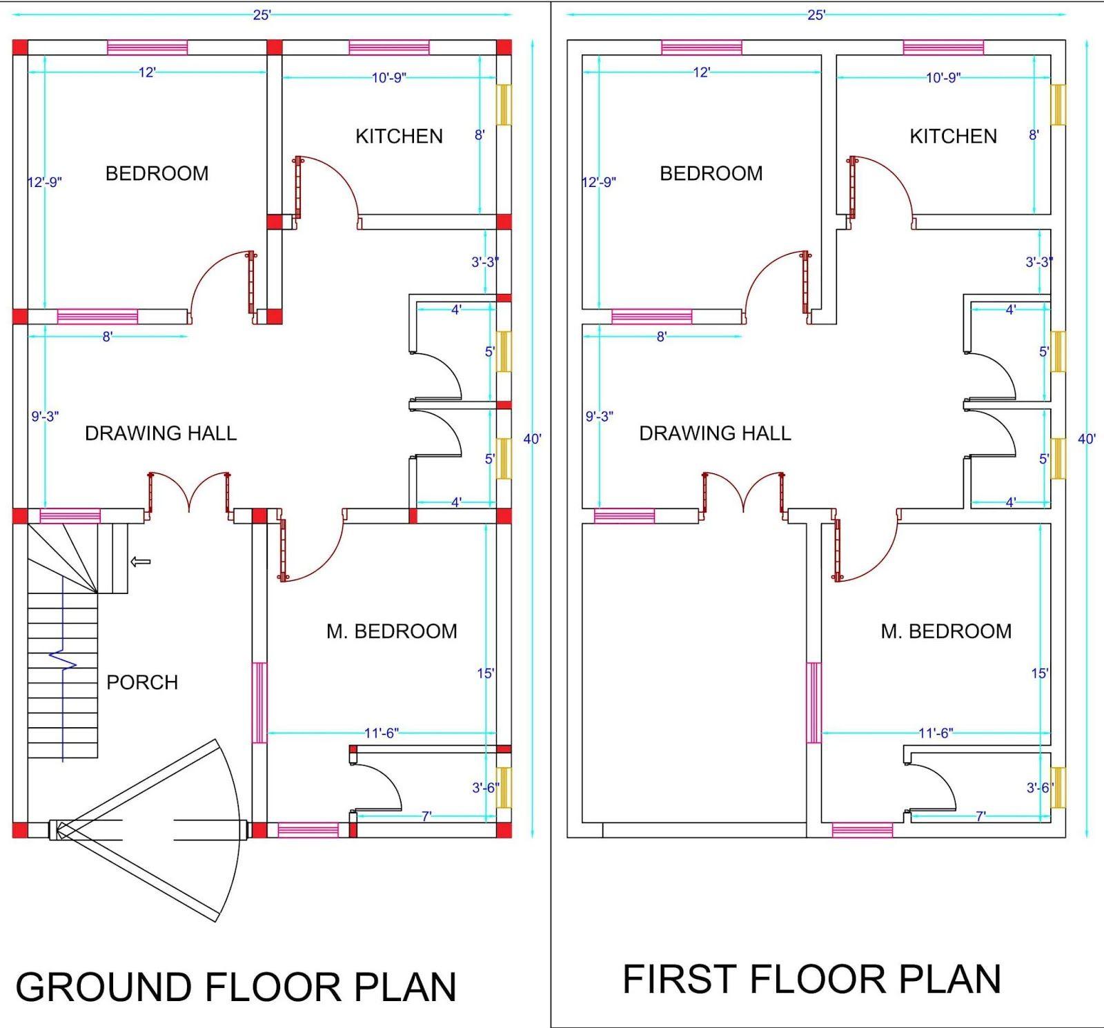 House Plan For 1000 Sq Ft 111 Sq Yard Ground Floor First Floor Housewala House Plans 2bhk House Plan Ground Floor