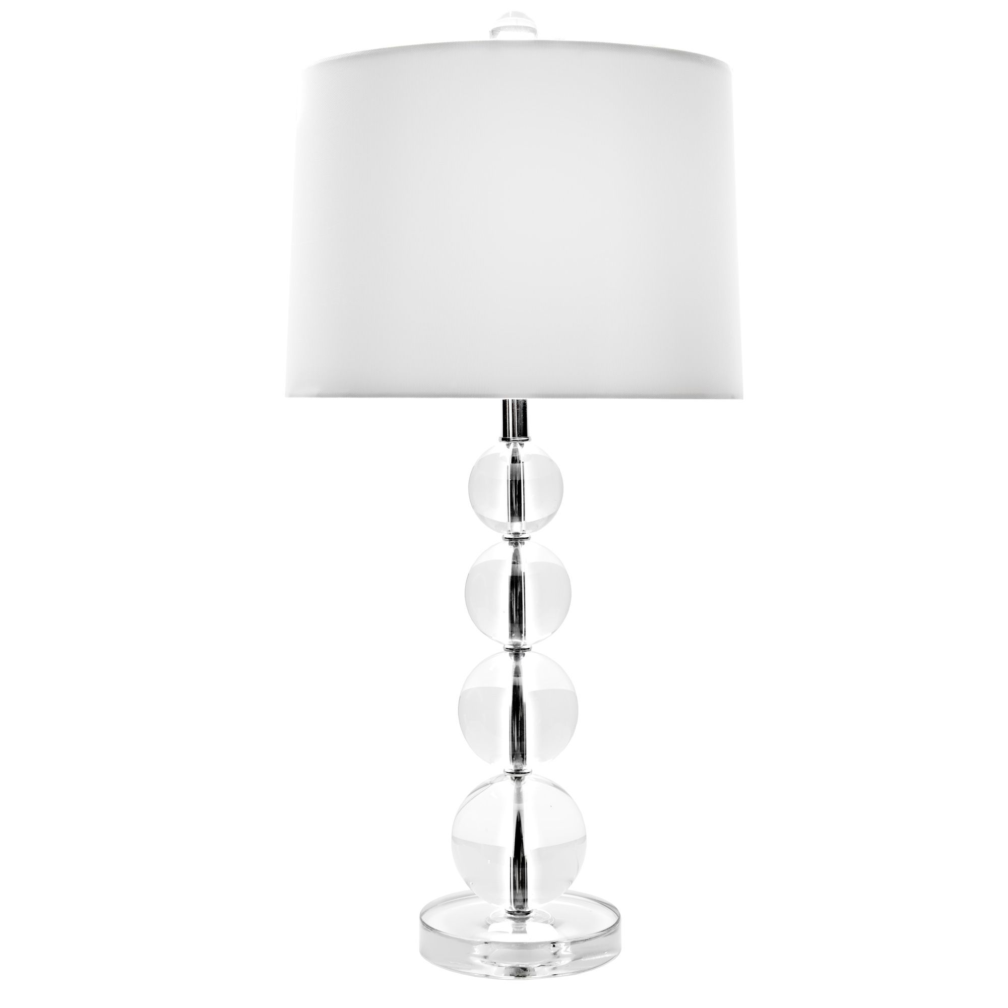 Stacked Crystal Ball Table Lamp And Shade 26 Back To Burbank