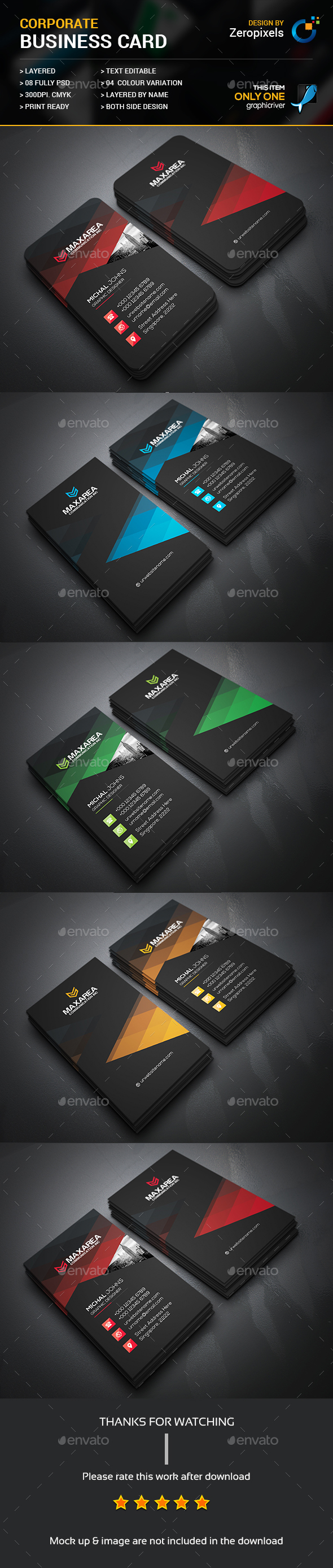 Soft Corporate Business Card Template PSD NévjegykártyaBusiness - Editable business card templates free