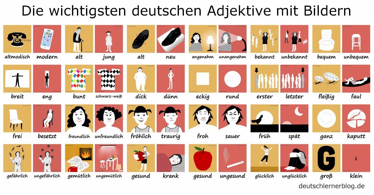 Die 200 wichtigsten deutschen Adjektive mit Bildern lernen ...