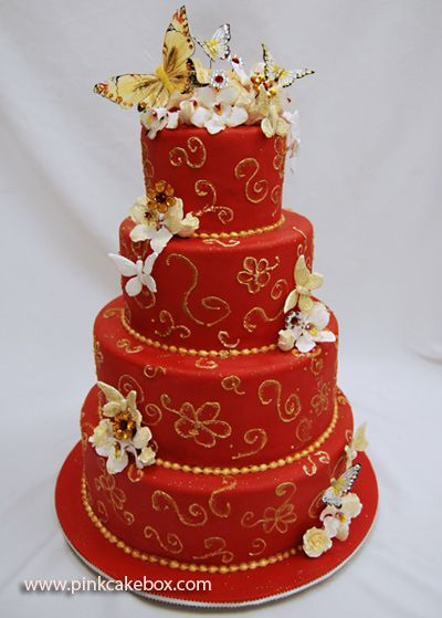 wedding cake red butterfly sweet 16 cake 187 sweet 16 cakes 16 birthday 23659