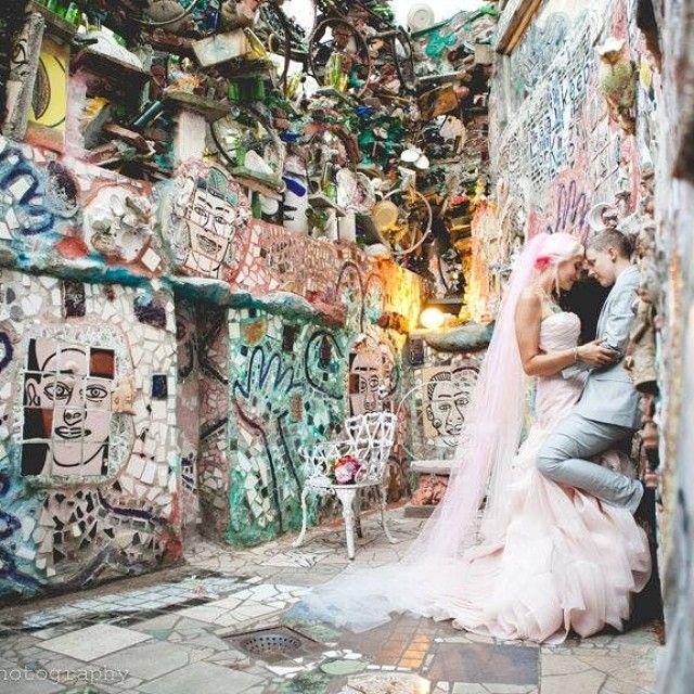 Robin&Jeannine's Magical Wedding #themagicgardens #magicgardens #magicgardensphiladelphia #lgbtq #love #loveislove #twobridesarebetterthanone #twobrides #tarabethphotography #verawang #verawangweddinggown #pinkwedding #pinkweddinggown #gaywedding #gaymarriage #lesbianwedding #vintageweddingphotography #vintagewedding #weddingphotography #weddingvenue #diywedding #uniquewedding #unique