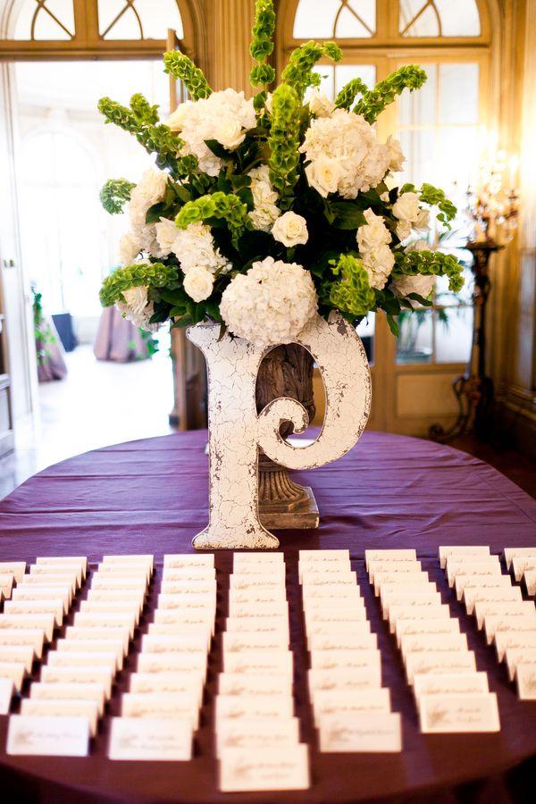 Elegant Washington DC Wedding Reception Place Card Table Wedding