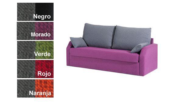 4111a7fd653f1 Sofá tres plazas con cama nido. Varias combinaciones de colores a elegir.