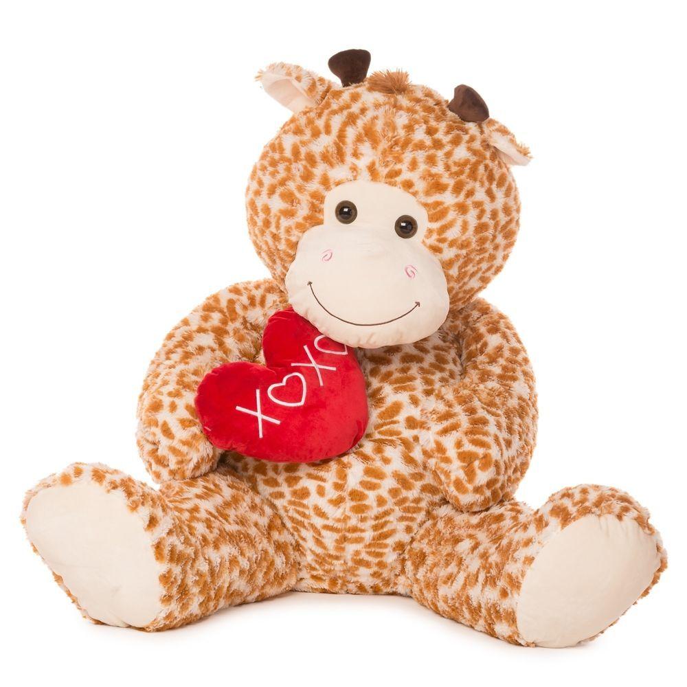 Valentines Day Stuffed Animal 55 Jumbo Giant Giraffe Plush With Xoxo Heart Valentinesplush Giant Plush Plush Animals Giraffe Plush [ 1000 x 1000 Pixel ]