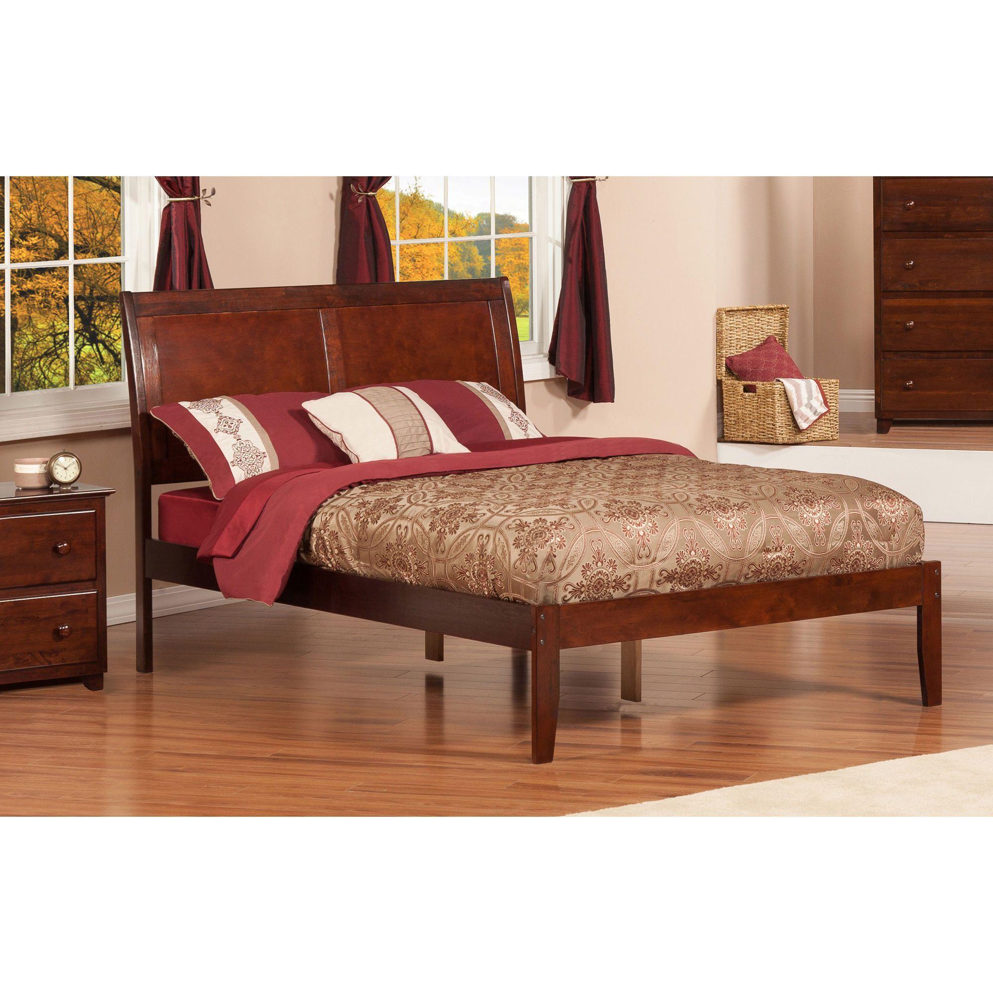 Atlantic Furniture Portland Walnut (Brown) Open Foot Full Size Platform Bed  (Size