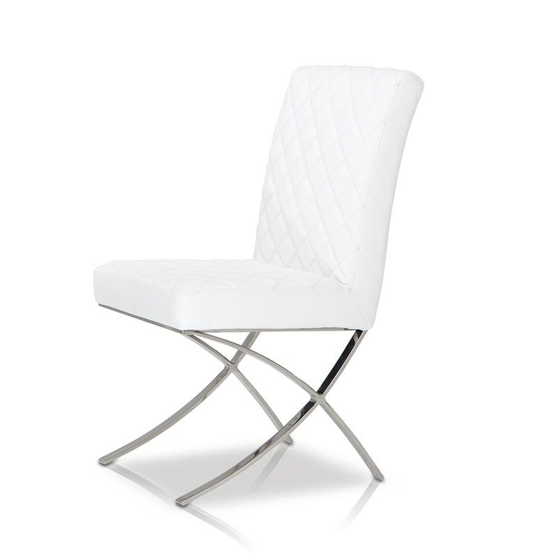 C1012 Modern White Eco Leather Dining Chair