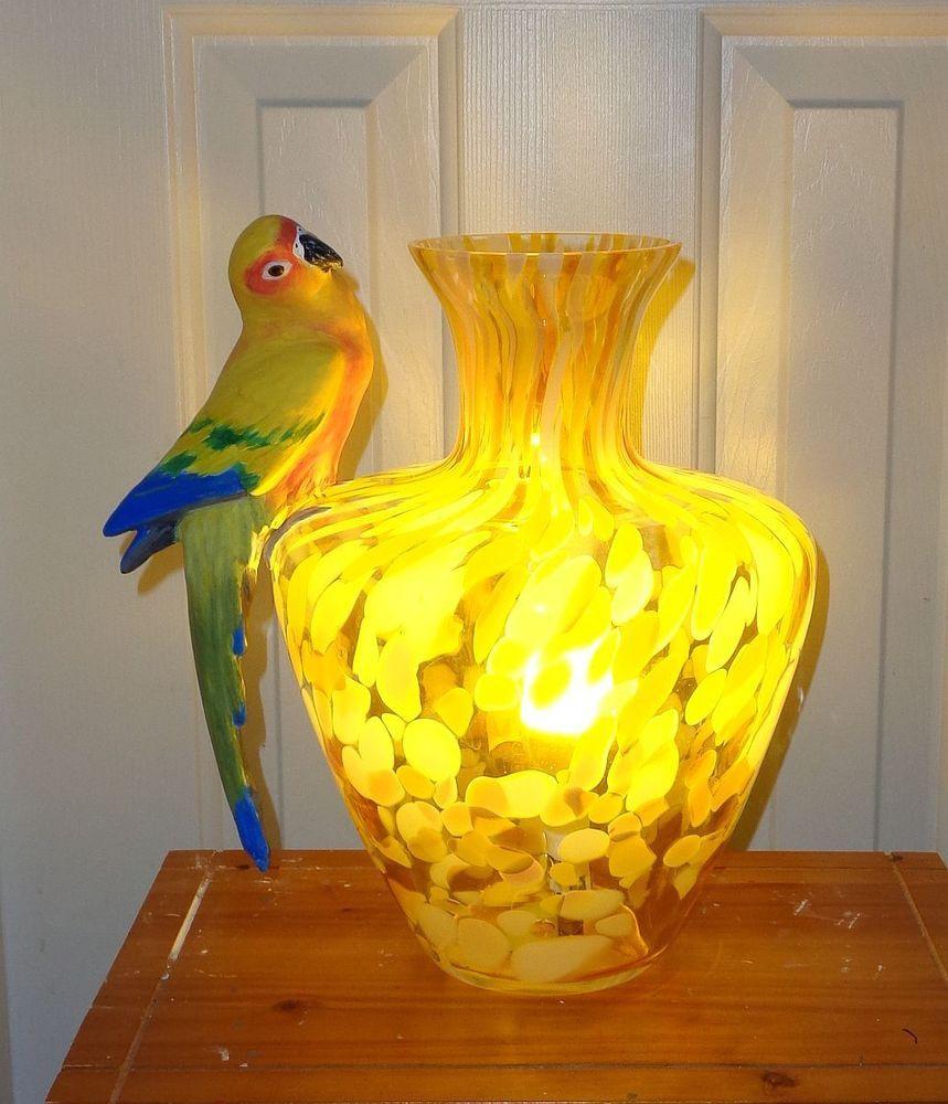 Eternal Sunshine A Sun Conure Parrot Murano Lamp Conure Parrots Murano Lamp Sun Conure