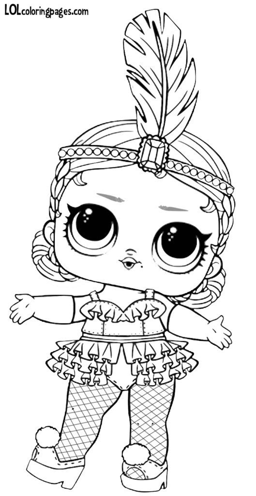 Showbaby LOL Doll Coloring Page (With images) | Barbie ...