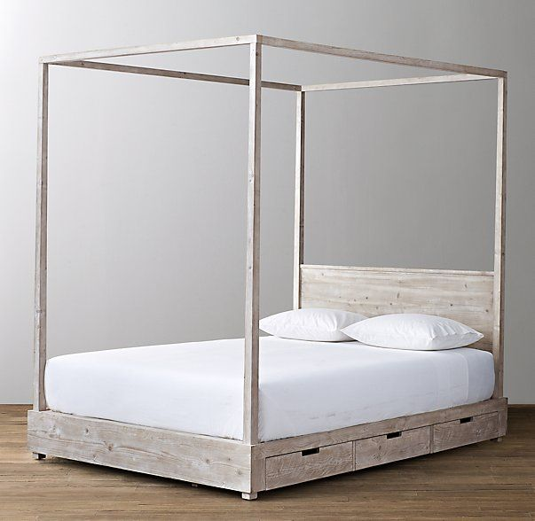 Callum 6 Drawer Storage Canopy Bed Platform Canopy Bed Canopy Bed Headboards For Beds