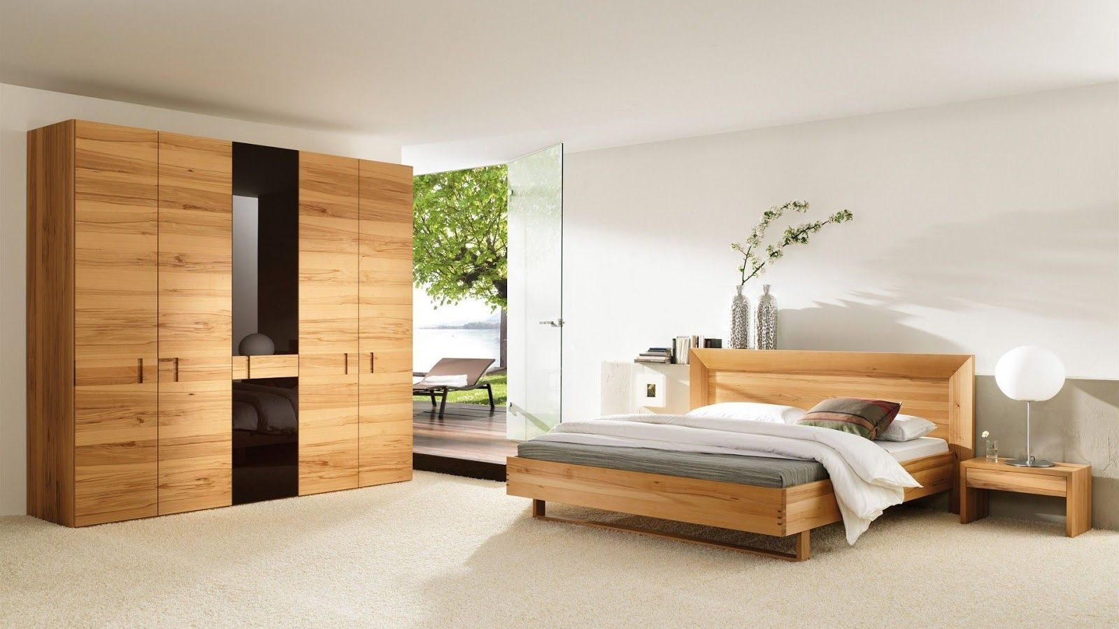 Interesting simple bedroom design ideas with nice wardrobe for Simplistic bedroom design
