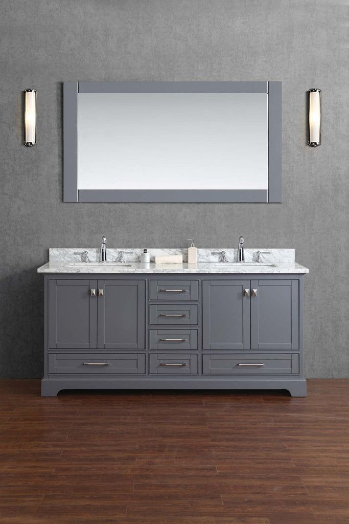 Newport Inch Double Sink Bathroom Vanity With Mirror Double - Bathroom vanities 72 inch double sink