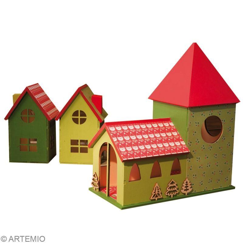 fabriquer un village de no l miniature id es conseils et tuto no l no l pinterest noel. Black Bedroom Furniture Sets. Home Design Ideas