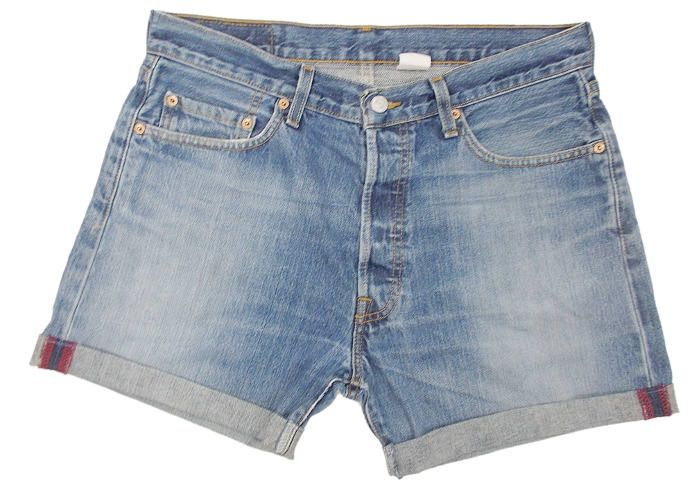 283b1db3 Vintage Levis 501 Denim Shorts Turn Ups Cuffed Faded Blue W34 (approx UK  14) by BlackcatsvintageUK on Etsy