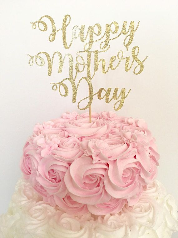 Any Color Glitter Happy Mom/'s Day Cake Topper