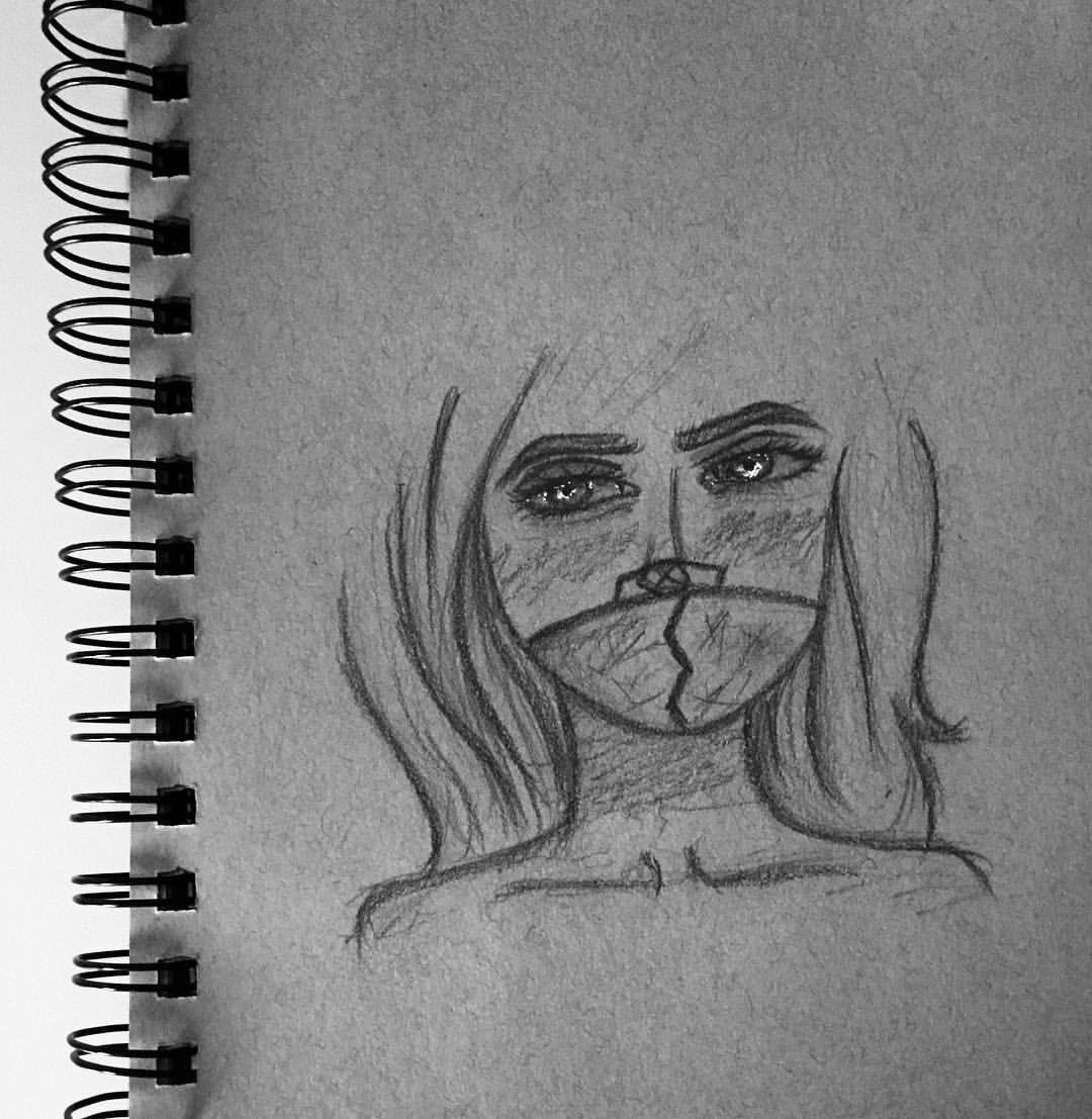 اذا رسمت ونا مصدعه ذي النتيجه Draw Drawing Drawings Art Artist Artists Sketch Sketchbook Myart Myartwork Pintere Male Sketch Female Sketch Art