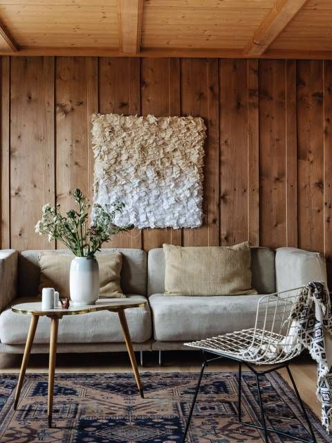 In Home Decor 36 boho rooms with too many prints in a good way 31 Ways To Make Wood Paneling Modern