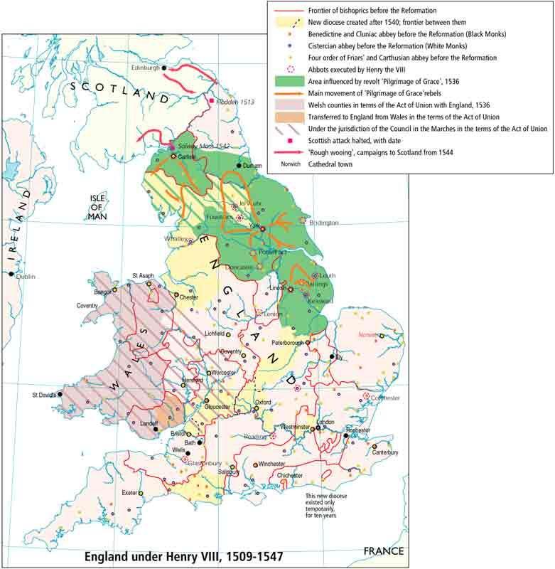Map Of England Henry Viii.1509 1547 England Under Henry Viii How To Make Tea