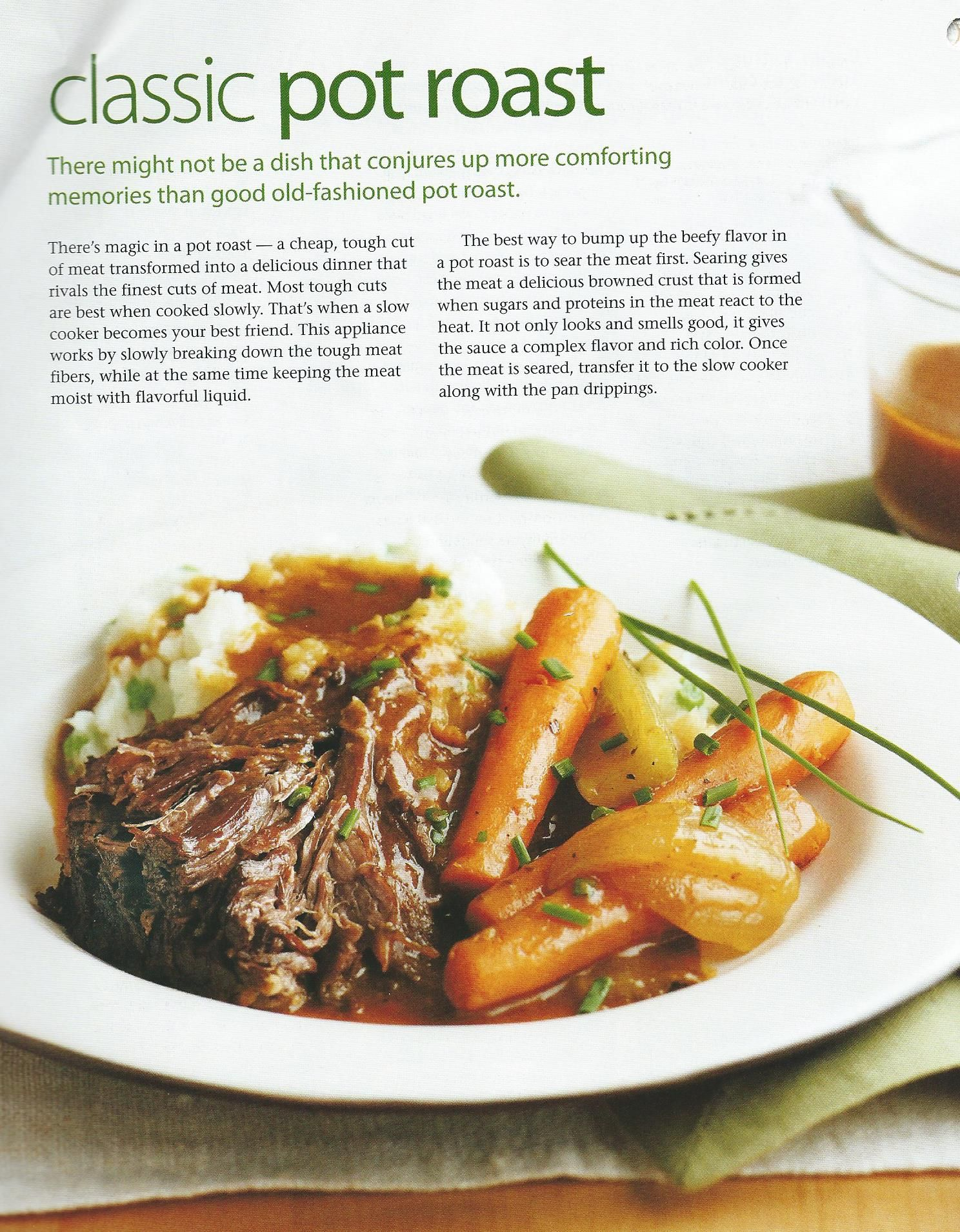 Classic Pot Roast Page 1 Yummy Dinners Pot Roast Classic Pot Roast