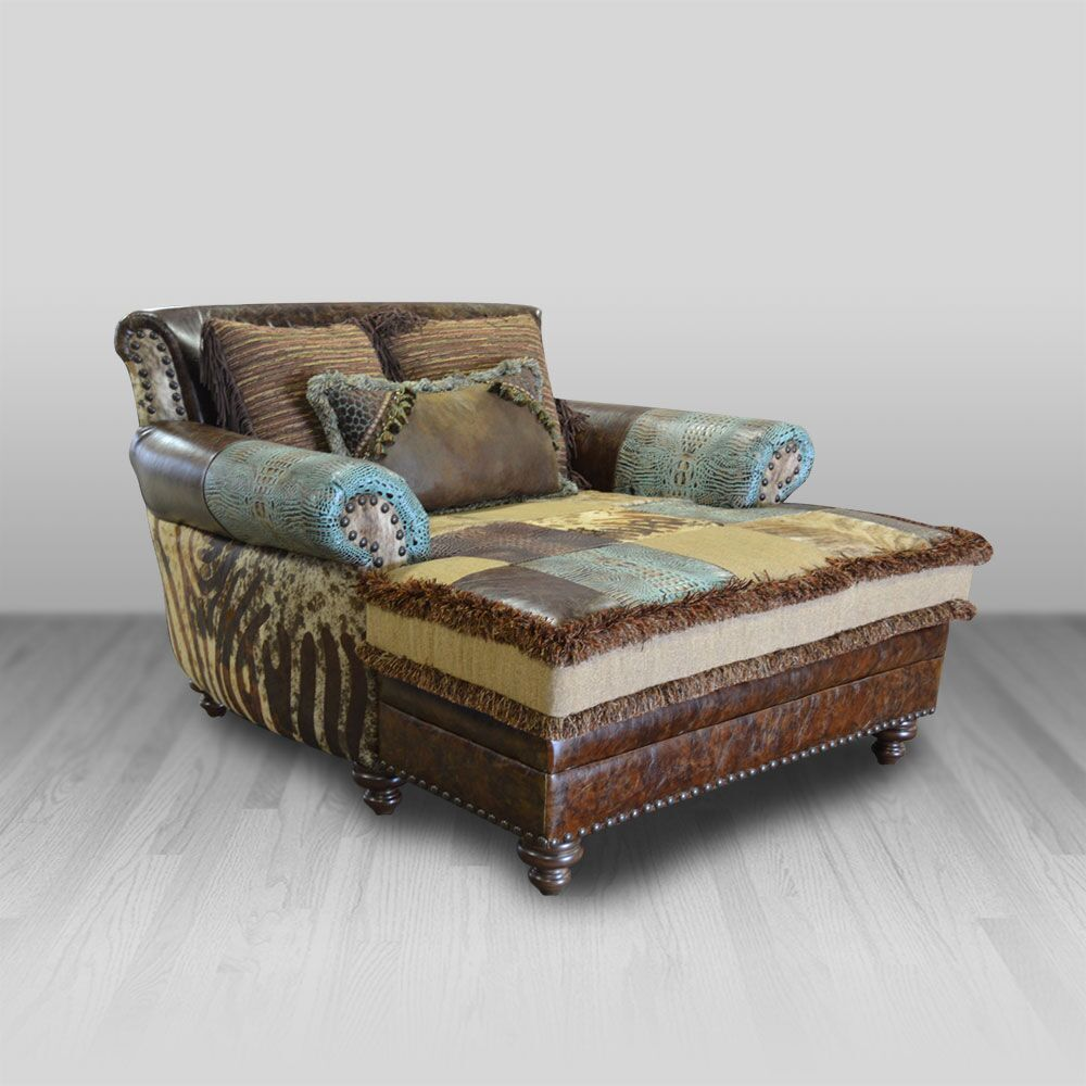 Calico Chaise | Western furniture, Cowhide western ...