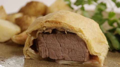 Food from around the world -- England (I'm pretty sure): Beef Wellington