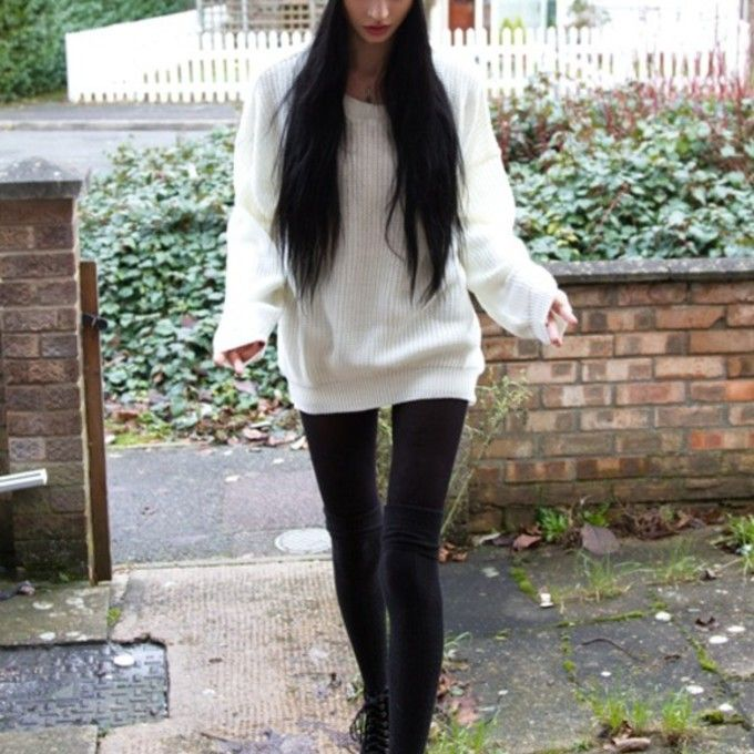 hat sweater oversized knitted oversized sweater winter cute jumper ...