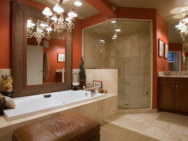 Energizing Orange Bathroom Color Schemes Ideas Lanewstalk Com The
