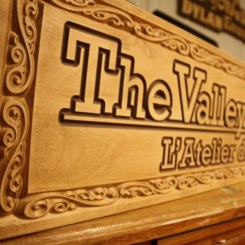 Over a decade of experience in creating custom-made wood products such as: carved signs, wooden letters, custom furniture, promotional materials and more.