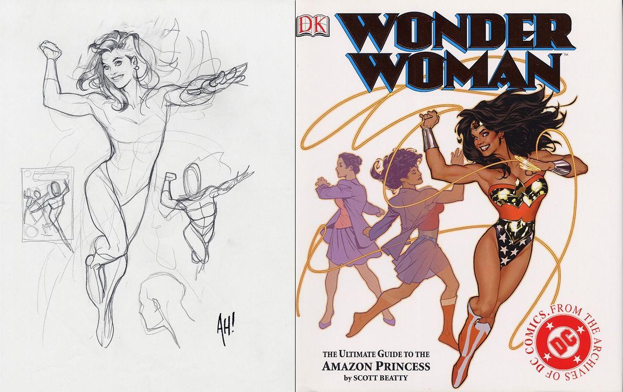 Wonder Woman Guide cover prelim Adam Hughes Comic Art