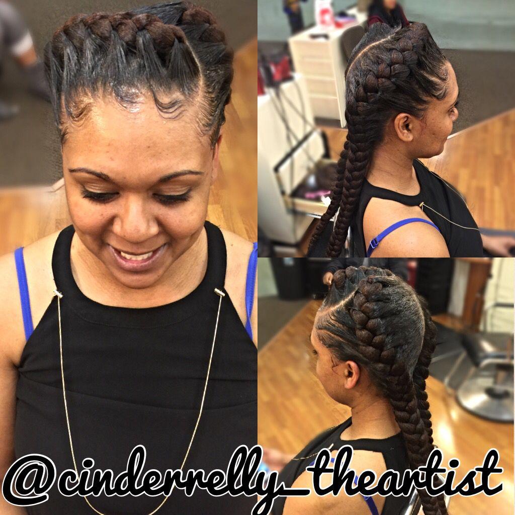 2braids Underbraids Goddessbraids Two Braid Hairstyles Under Braids Hair Styles