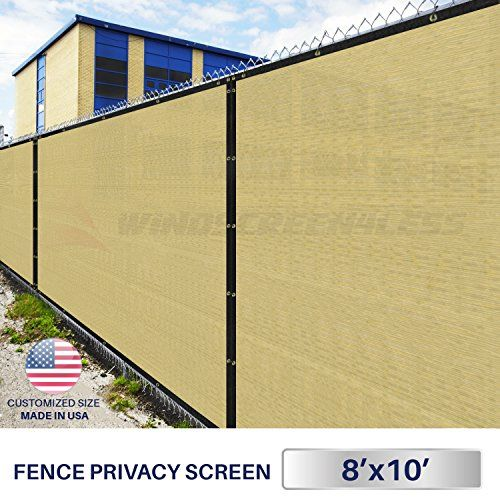 Customize 5/' FT Tall Brown Privacy Screen Fence Windscreen Mesh Shade Cover