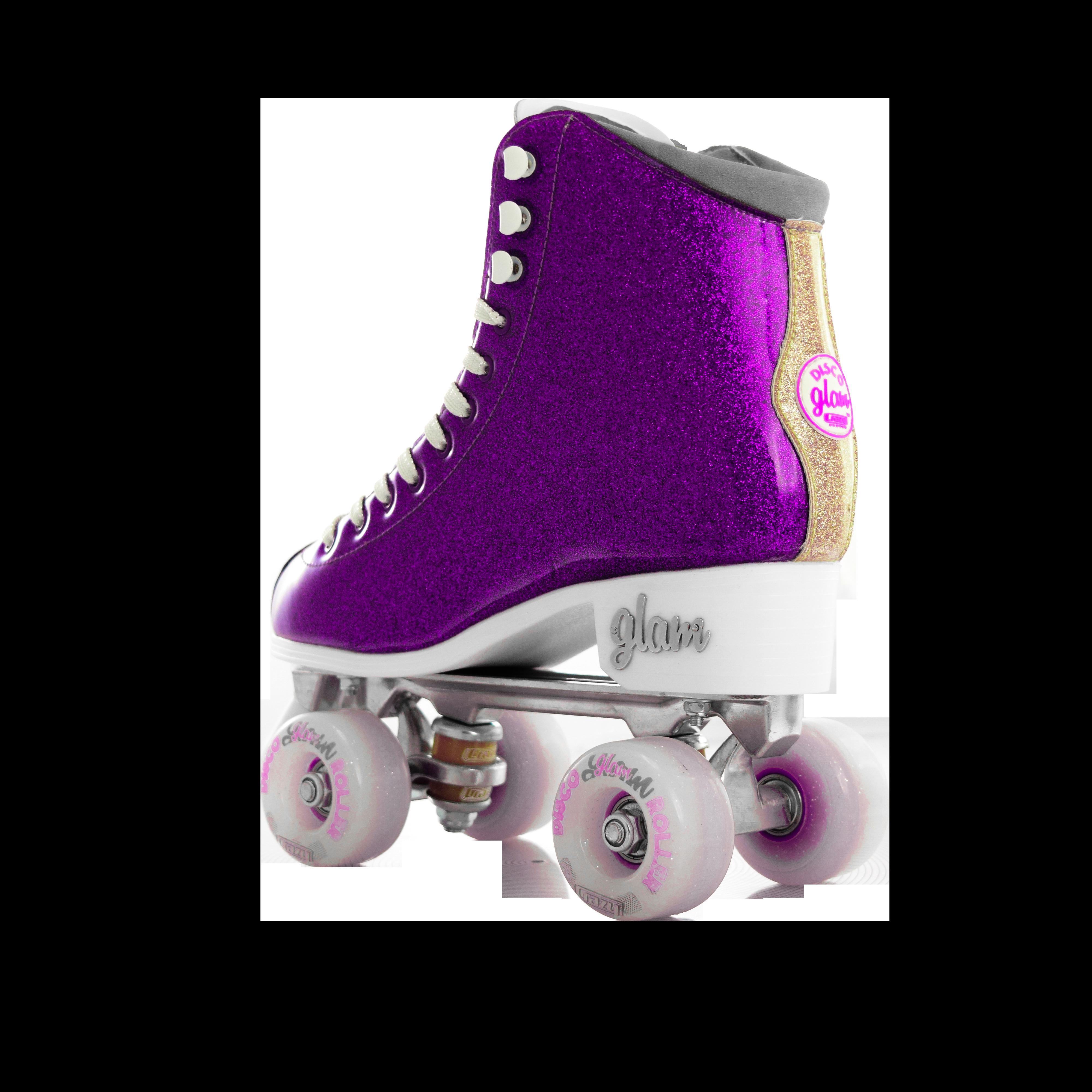 Glam Roller Skates by Crazy SkatesGlitter Quad Rollerskates for GirlsPink