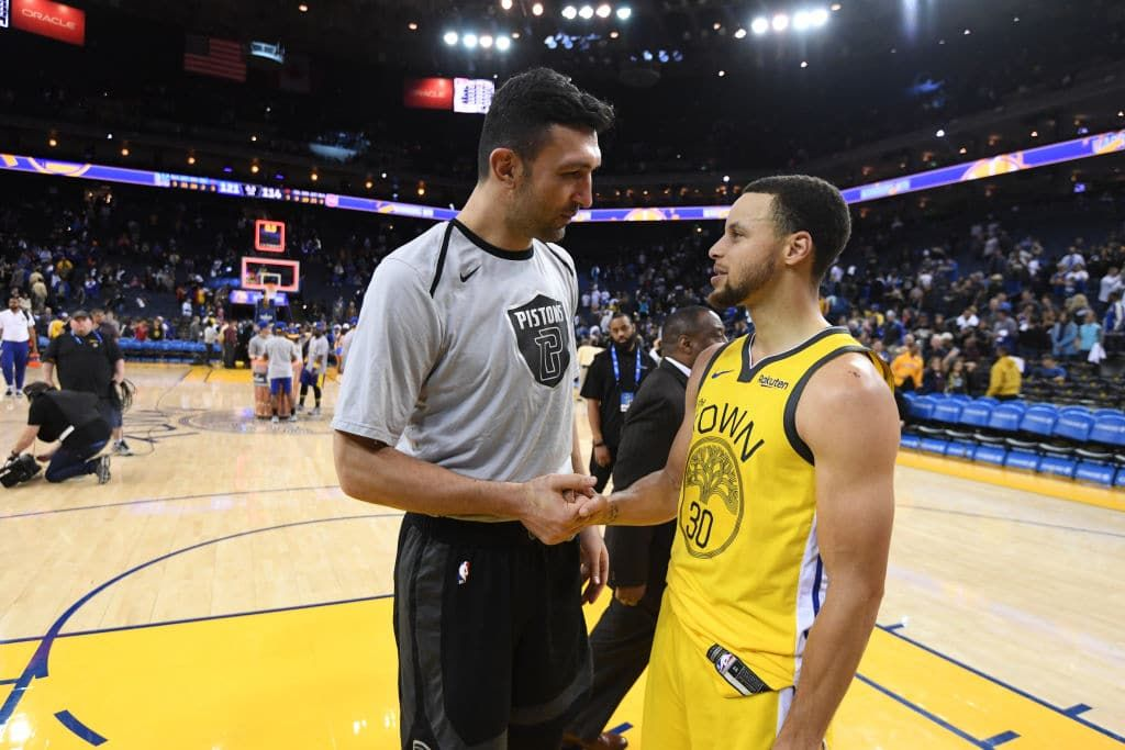 Zaza Pachulia Retires Joins Warriors As Consultant Slam Detroit Pistons Jennifer Lawrence Young Nba Champions