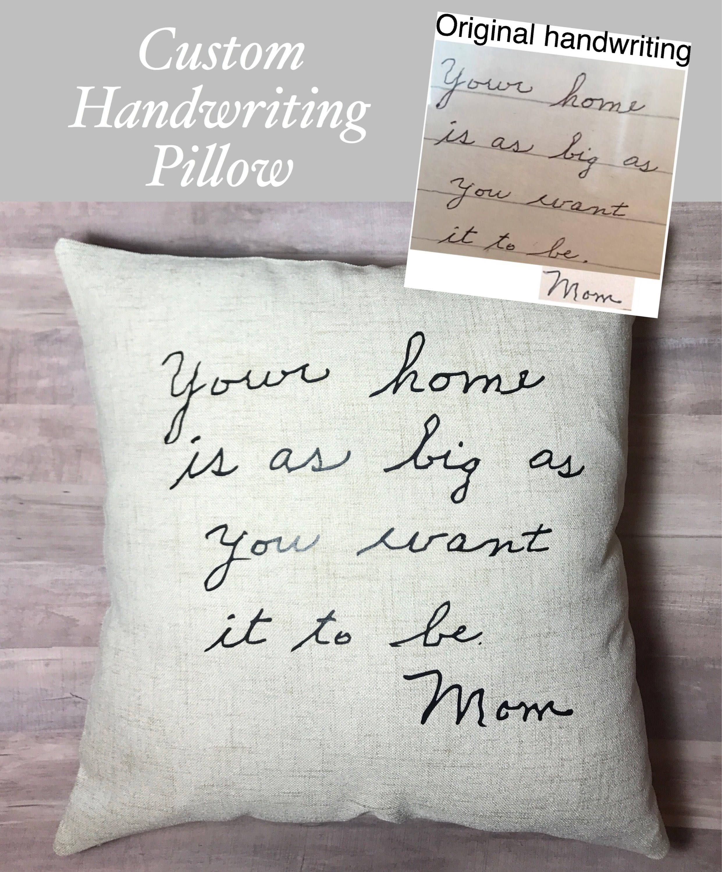 Handwriting Pillow In Memory Of Handwriting Pillow