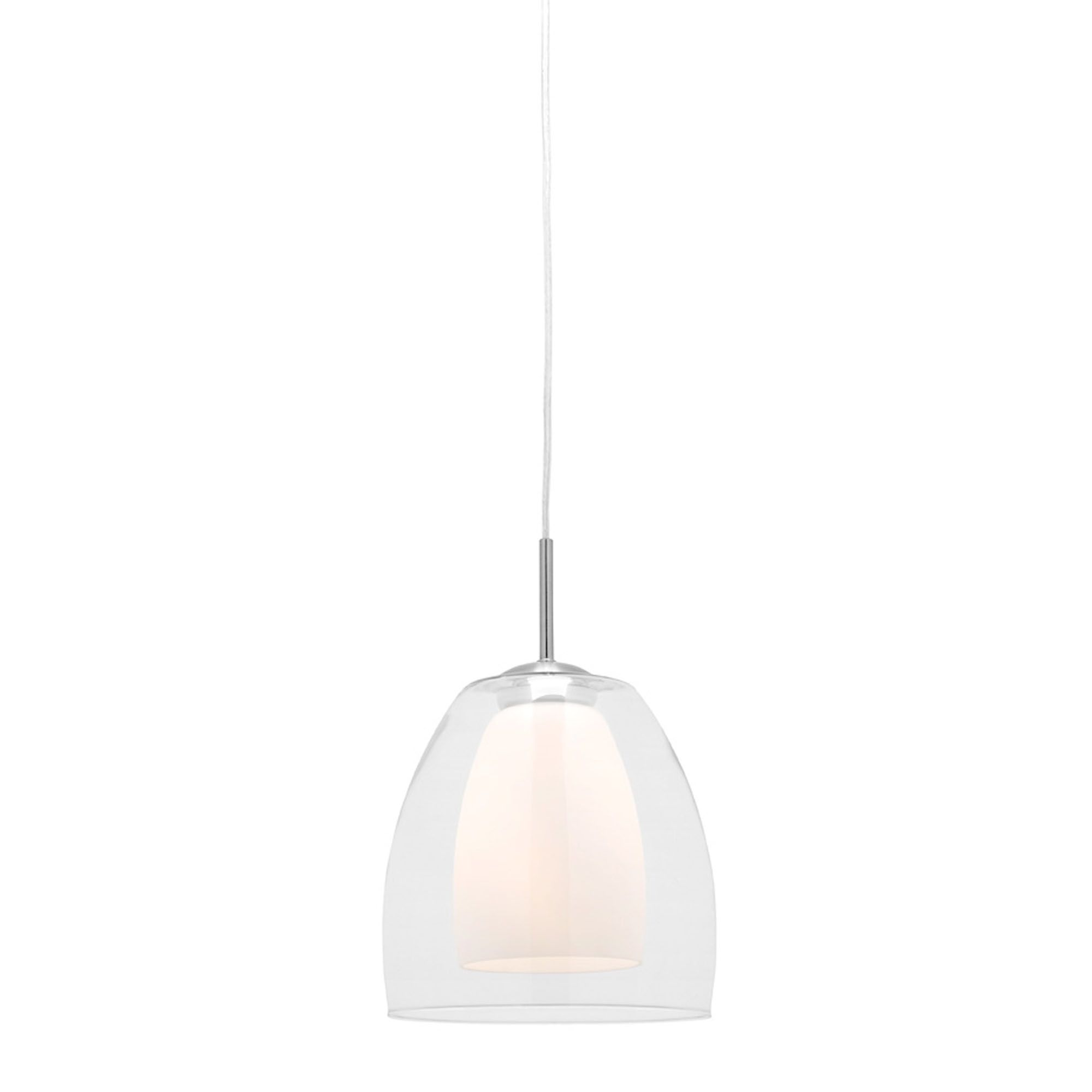 Large Aries Clear And Frosted Glass Shade Pendant Light Glass Shade Pendant Light Pendant Light Pendant Lighting