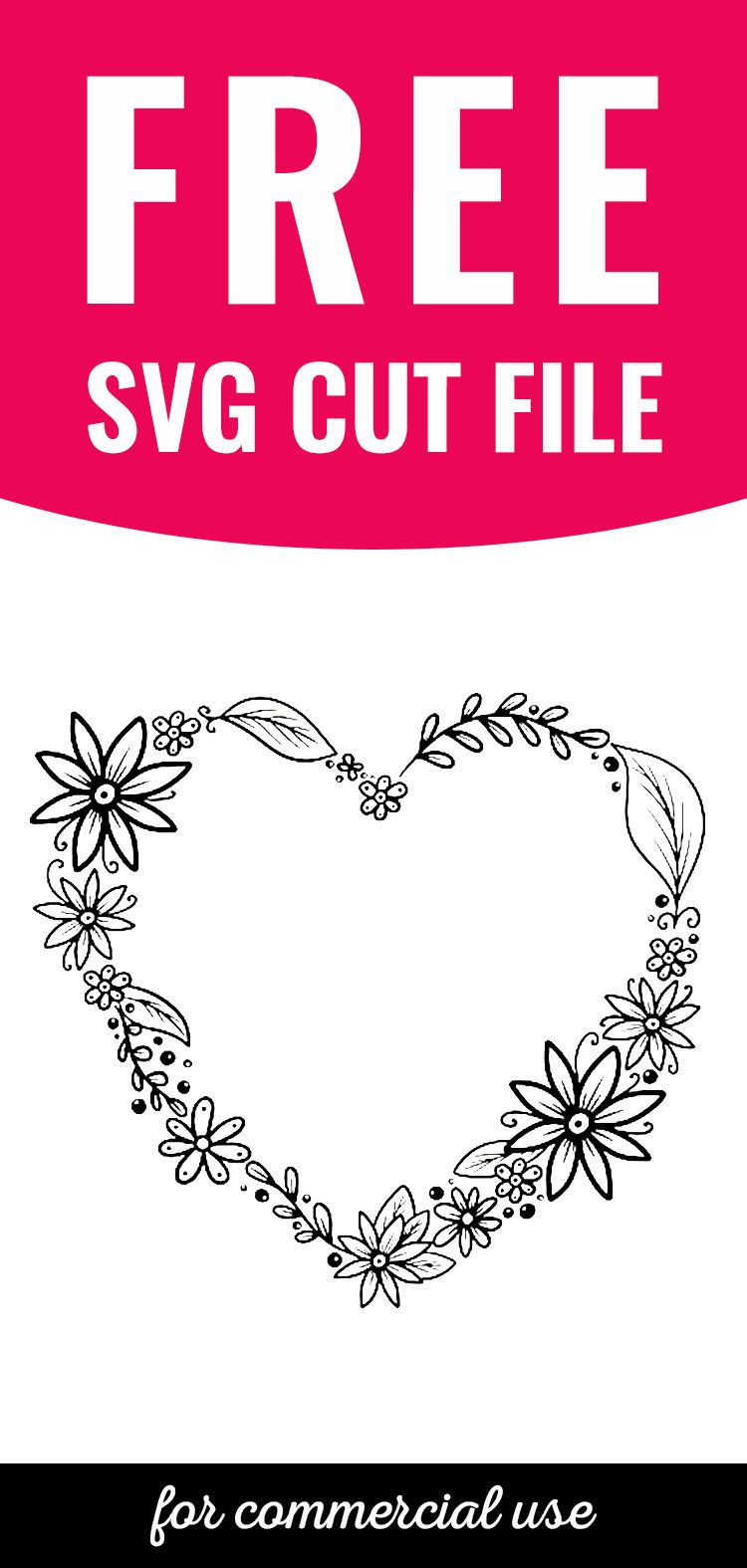 Download this FREE Heart Wreath SVG cut file for your next Cricut project